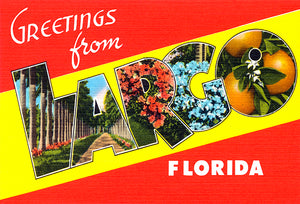 Greetings From Largo, Florida - 1930's - Vintage Postcard Magnet