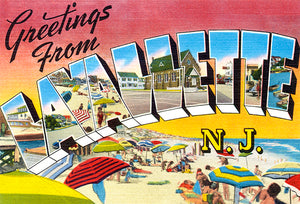 Greetings From Lavallette, 1930's - Vintage Postcard Magnet