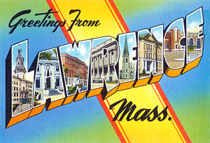 Greetings From Lawrence, Massachusetts - 1930's - Vintage Postcard Magnet