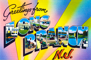 Greetings From Long Branch, New Jersey - 1930's - Vintage Postcard Magnet