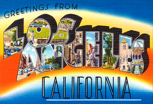 Greetings From Los Angeles, California - 1930's - Vintage Postcard Magnet