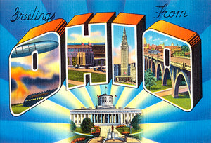 Greetings From Ohio #2 - 1930's - Vintage Postcard Poster