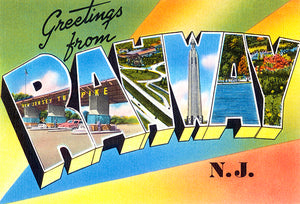 Greetings From Rahway, New Jersey - 1930's - Vintage Postcard Poster