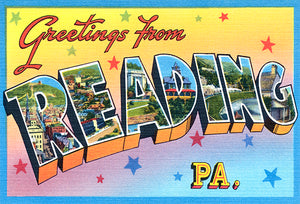 Greetings From Reading, Pennsylvania -  1930's - Vintage Postcard Poster