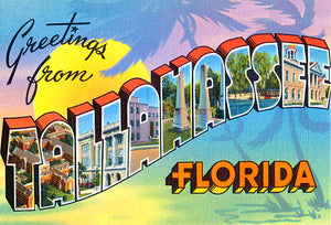 Greetings From Tallahassee, Florida - 1930's - Vintage Postcard Poster