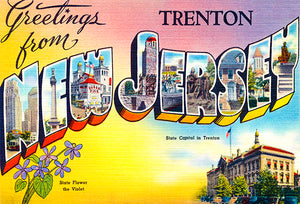 Greetings From Trenton, New Jersey - 1930's - Vintage Postcard Mug