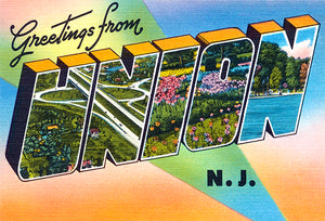 Greetings From Union, New Jersey - 1930's - Vintage Postcard Mug