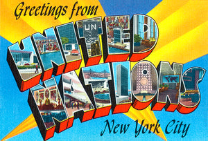 Greetings From United Nations, New York City -  1930's - Vintage Postcard Mug