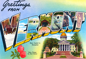 Greetings From Vermont - Montpelier - 1930's - Vintage Postcard Mug