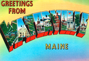 Greetings From Waterville, Maine - 1930's - Vintage Postcard Mug