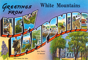 Greetings From White Mountains, New Hampshire - 1930's - Vintage Postcard Mug