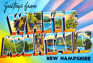 Greetings From White Mountains, New Hampshire #2 - 1930's - Vintage Postcard Mug