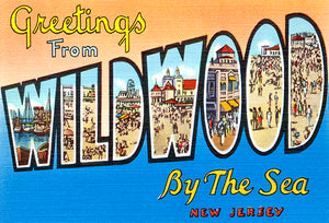 Greetings From Wildwood By The Sea - New Jersey #3 - 1930's - Vintage Postcard Mug