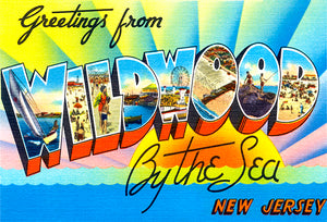 Greetings From Wildwood By The Sea - New Jersey #4 - 1930's - Vintage Postcard Mug