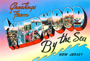 Greetings From Wildwood By The Sea - New Jersey #5 - 1930's - Vintage Postcard Mug