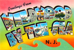 Greetings From Wildwood By The Sea - New Jersey #6 - 1930's - Vintage Postcard Mug