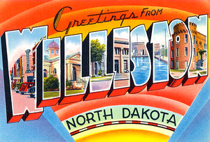 Greetings From Williston, North Dakota - 1930's - Vintage Postcard Mug