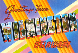 Greetings From Wilmington, Delaware - 1930's - Vintage Postcard Mug