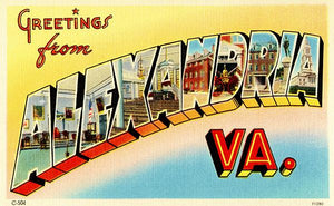 Greetings From Alexandria, Virginia - 1930's - Vintage Postcard Magnet