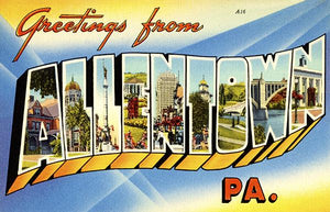 Greetings From Allentown, Pennsylvania - 1930's - Vintage Postcard Magnet