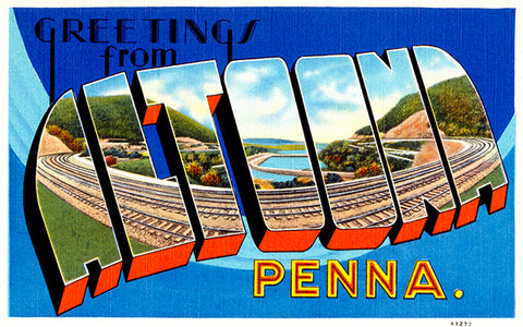 Greetings From Altoona, Pennsylvania - 1930's - Vintage Postcard Poster