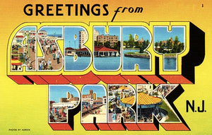 Greetings From Asbury Park, New Jersey - 1930's - Vintage Postcard Magnet
