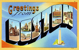 Greetings From Boston, Massachusetts - 1930's - Vintage Postcard Magnet