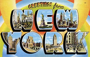 Greetings From New York - 1930's - Vintage Postcard Magnet