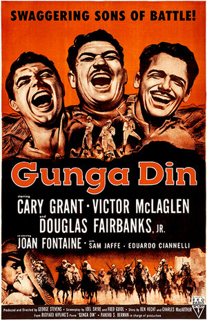 Gunga Din - 1939 - Movie Poster