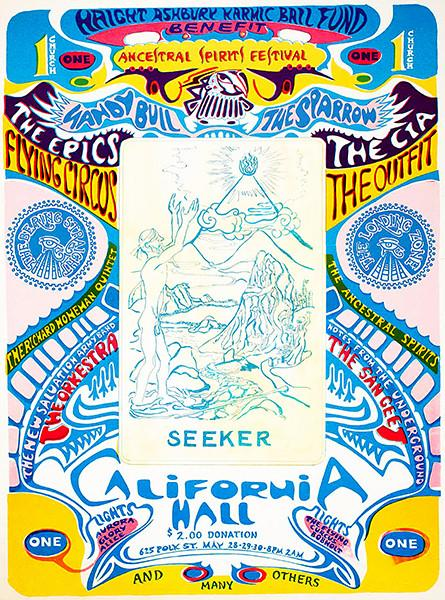 Haight Ashbury Karmic Ball Fund - Ancestral Spirits Festival - 1967 - California Hall - Concert Poster Mug