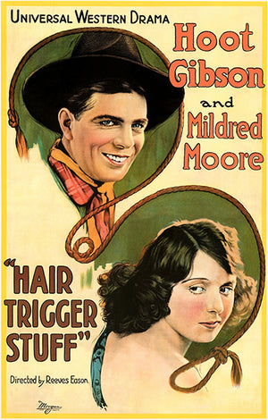 Hair Trigger Stuff - 1920 - Movie Poster Magnet