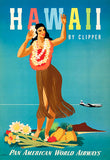 Hawaii By Clipper - 1948 - Pan American World Airways - Travel Poster Magnet