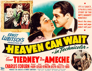 Heaven Can Wait - 1943 - Movie Poster