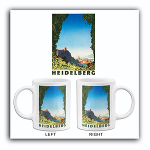 Heidelberg Germany - 1936 - Travel Poster Mug