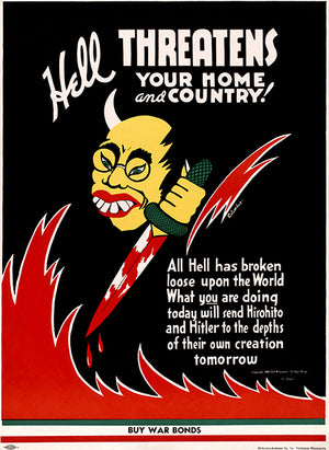 Hell Threatens Your Home and Country! - 1942 - World War II - Propaganda Magnet