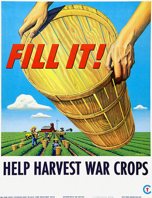 Help Harvest War Crops - 1945 - World War II - Propaganda Magnet
