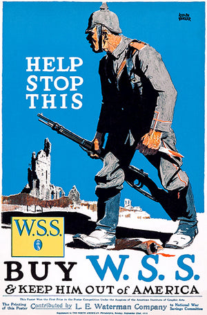 Help Stop This - WSS - 1918 - World War I - Propaganda Magnet