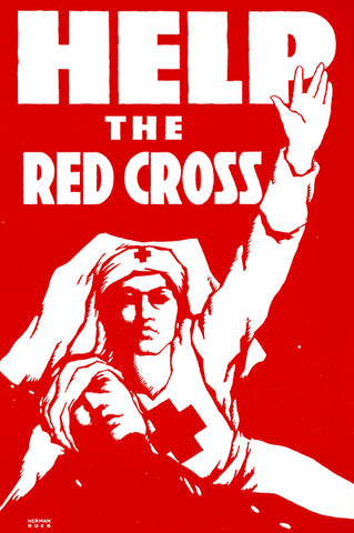 Help The Red Cross - 1910's - World War I - Propaganda Poster