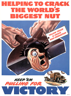 Helping To Crack World's Biggest Nut - Keep 'Em - 1940 - World War II - Propaganda Mug