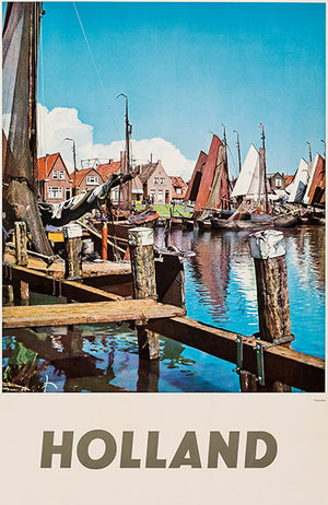Holland - 1960's - Travel Poster Magnet