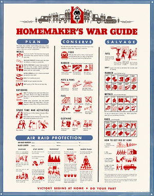 Homemaker's War Guide - 1942 - World War II - Propaganda Poster