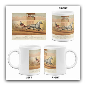 Hopeful - Bridham Horse - Record 2:14 Chicago 1878 - Horse Racing Mug