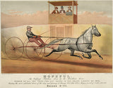 Hopeful - Bridham Horse - Record 2:14 Chicago 1878 - Horse Racing Poster