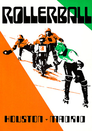 Houston vs Madrid - Rollerball - 1975 - Movie Match Event Poster Magnet