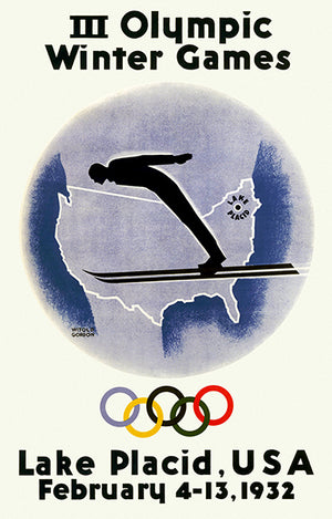 III Olympic Winter Games - Lake Placid, USA - 1932 - Advertising Poster
