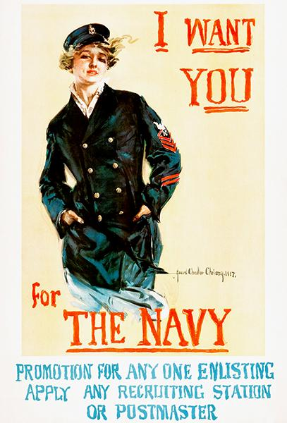 I Want You For The Navy - 1917 - World War I - Recruitment Poster Mug