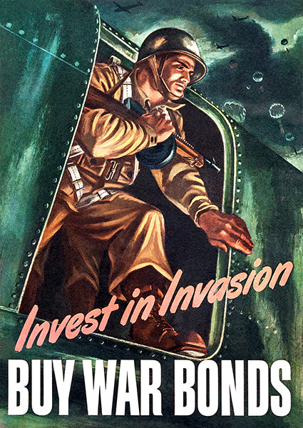 Invest In Invasion - 1943 - World War II - Propaganda Poster