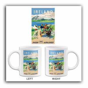 Ireland - Irish International Airlines - 1960's - Travel Poster Mug