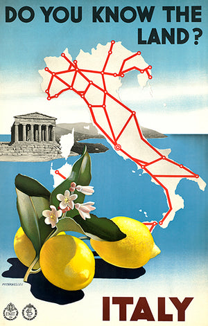 Italy - Do You Know The Land - 1930's - Travel Poster