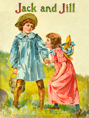 Jack And Jill - 1898 - Victorian Children's Book Cover Mug